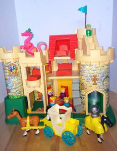 Vintage Fisher Price Castle Set...favorite hand me down toy growing up