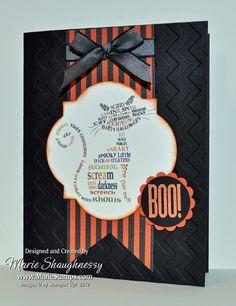 Stamping Inspiration: MDS MONDAY, Frightening Feline Swap Card...