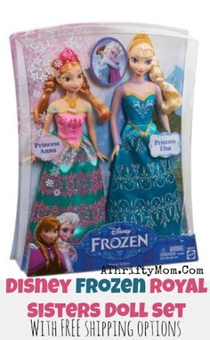 Disney Frozen Dolls Elsa and Anna only fifteen dollars each #Frozen, #ElsaDoll, #AnnaDoll