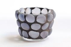 Lavender Gems - Mosaic candle holder