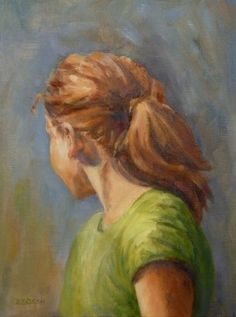 Young Redhead Oil Painting Art Portraits People Figure Girl, painting by artist Debra Sisson