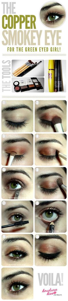 Copper Smokey Eye Shadow Tutorial