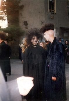 photographs of 80s' goths.