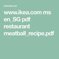 Looking for well designed furniture in Singapore at affordable prices . Here at IKEA we offer a range of sofas, beds, mattresses, and more. Buy Furniture Online, Meatball Recipes, Restaurant Recipes, Tasty, Ms, Ikea, Food, Copycat, Ikea Co