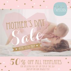 WE LOVE MOMMAS - BIG PHOTOGRAPHY TEMPLATE SALE www.paperlarkdesigns.com #photography #template #discounts #graphicdesign