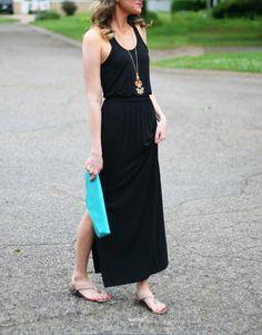 black maxi dress - www.lovelucygirl.com