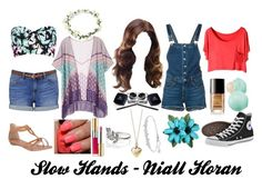 """""""Slow Hands ~ Niall Horan"""" by redheadmahomiemidnightredaustin ❤ liked on Polyvore featuring Swarovski, Victoria's Secret, River Island, Forever New, rag & bone/JEAN, Converse, China Glaze, Chanel, Yves Saint Laurent and Hot Topic"""