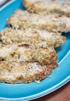 """Low Carb Parmesan Dijon Pork Chops - easy to make """"breaded"""" pork chops that are . CLICK Image for full details Low Carb Parmesan Dijon Pork Chops - easy to make """"breaded"""" pork chops that are low carb, paleo, gluten-free. Ketogenic Recipes, Low Carb Recipes, Diet Recipes, Healthy Recipes, Ketogenic Diet, Punch Recipes, Smoothie Recipes, Cena Keto, Breaded Pork Chops"""