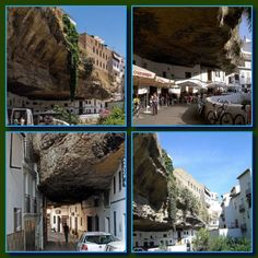 Setenil de las Bodegas is a small village in the province of Cadiz, Spain. What makes the town so special is that it was built half in the rocks.