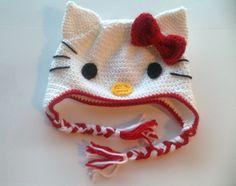 free crochet hello kitty patterns | My first crochet hat: free pattern from Crochet in Color