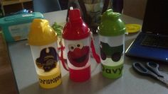 More Toddler Cups with removable snack cup ****My Absolute Favorite Design to date was the ECU pirate for my little cousin*****
