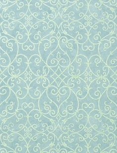 motif arabesques bleu