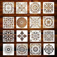 Drawing Stencils, Mandala Stencils, Mandala Painting, Stencil Painting, Fabric Painting, Mandala Art, Paint Stencils, Wall Drawing, Stenciling