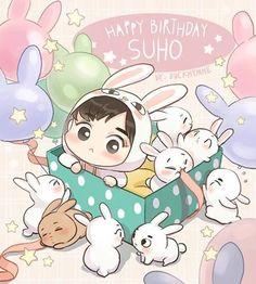 {160522}|#happysuhoday - | #happybirthdaysuho - | {Fanart made by…