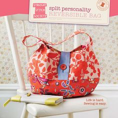 Split Personality Reversible Bag - cute pattern, but go to the website and read their manifesto!
