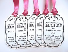 Gift tags for party favors, a bunch of customizable choices ~ Amaretto on Etsy