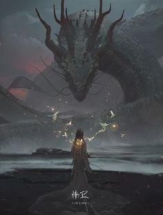 New concept art fantasy characters dragon Ideas Art And Illustration, Monster Illustration, Art Illustrations, Fantasy Artwork, Digital Art Fantasy, Fantasy Concept Art, Fantasy World, Dark Fantasy, Fantasy Queen