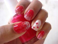 Valentine's Day  inspired nail design