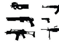 Gun Silhouette Vectors