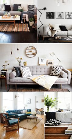 perfect minimalist living rooms (does not link directly to these pictures) Die sehen alle sehr gemütlich aus.