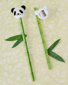 Bamboo Pencil and Panda Sharpener | Arts & Crafts | Stationery