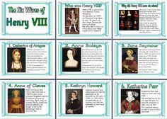 KS2 History Teaching Resource - Tudor Times - The Six Wives of Henry VIII printable classroom display posters for primary schools