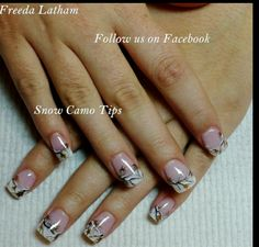 Country style nail designs are a great way to show off your snow camo tips nail art gallery prinsesfo Gallery