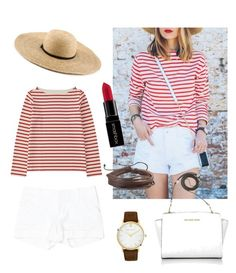 """Untitled #24"" by victoriagwright on Polyvore featuring Alice + Olivia, Larsson & Jennings, Michael Kors, Uniqlo, Smashbox and Zodaca"