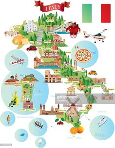 Vectorkunst : Cartoon map of ITALY