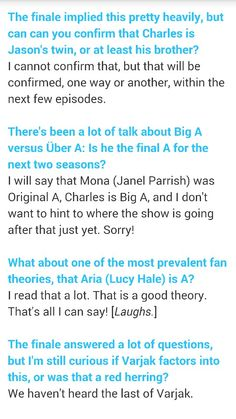 Pretty Little Liars Hints and Spoilers about Season 6!!!