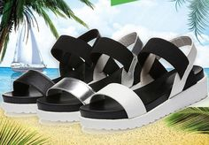 Women Summer Shoes Sandals Peep-Toe Flat Shoes Roman Sandals ITC831.