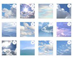 Cloudy Skies Print Set ~ Custom Photo Set ~ Cloud Photography ~ Blue Sky Art ~ Nursery Decor ~ 5x5 8x8 10x10 12x12 ~ Discounted Set ~ White Wall Decor by ~NancyJCreates