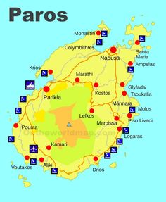 Paxos and Antipaxos map Maps Pinterest Corfu and Greece islands