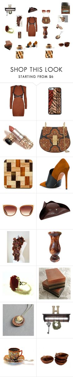 """""""Russet brown"""" by einder ❤ liked on Polyvore featuring Balmain, Chloé and Barton Perreira"""