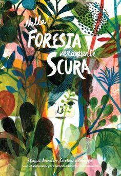 Nella foresta veramente scura - cover illustration by Violeta Lopiz   illustrated book covers