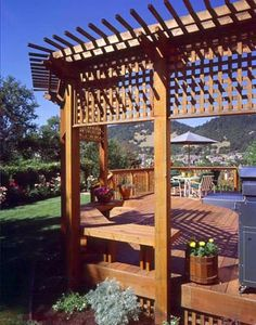 Sit back, kick your feet up, and relax on this beautiful redwood deck.