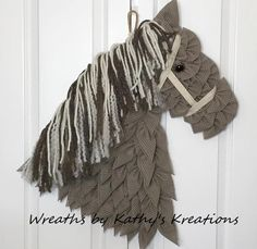 Holy Yee Haw!  The #Uniqueinthecreek makers just keep coming up with AWESOME designs on our #DIYWreath boards!  This horse board project  from Wreaths by Kathy's Kreations has set our heart galloping.  Look at the use of fabric layers and yarn textures, giddy up!  Ditch the fuss of traditional flimsy wreath frames and use the board made by Makers, for Makers.  If you can imagine it, we can help you create it, you've been waiting for this Diy Wreath, Wreaths, Awesome Designs, All Craft, Waiting, Frames, Layers, Boards, Horses