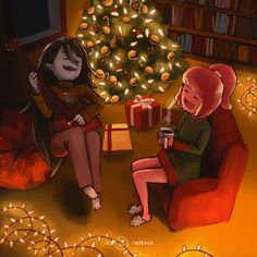 A MERRY CHRISTMAS FROM MARCELINE AND PBI just wanna thank every kind comment and feedback I've been receiving ever since I started posting my paintings here. it's been so much fun to interact with you...