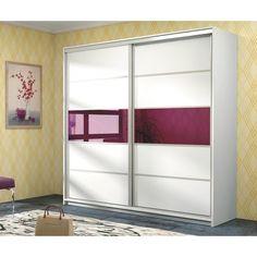 Armario Santana es un armario de puertas correderas de gran capacidad. Creemos que el elemento decorativo de cristal de color púrpura y sus puertas correderas son las razones de su popularidad entre nuestros clientes de UK. Pero nunca se sabe ;)