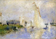 Pierre-Auguste Renoir (French 1841-1919), Regatta at Argenteuil, detail, 1874, Oil on canvas, National Gallery of Art, Washington, DC., Ailsa Mellon Bruce Collection