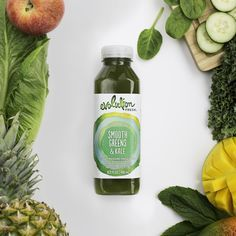Honest-to-goodness green juice, with a splash of tropical fruit.