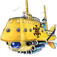 One Piece Style Trafalgar Law\'s Submarine Pigboat Undersea Boat Model Display Toy Plaything Gift for Kids Children FAA-111354