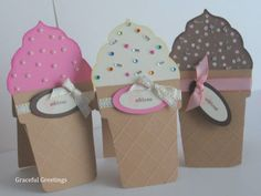 Ice Cream Cards  Stamps: SU Tiny Tags & Good Times By:Graceful Greetings
