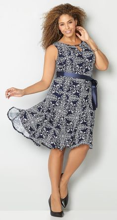 Plus Size Fit and Flare Dress