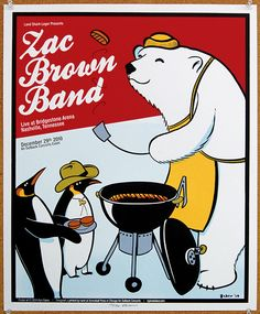 Kyle Baker for Zac Brown Band (with some Landshark Lager thrown in the mix)