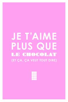 Je t'aime plus que le chocolat. #amour ©benjaminsaluppo