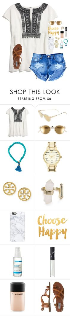 """Shoutouts!! "" by graciegerhart7 ❤ liked on Polyvore featuring Madewell, RetroSuperFuture, Kate Spade, Tory Burch, Kendra Scott, Casetify, Murad, NARS Cosmetics, MAC Cosmetics and Steve Madden"