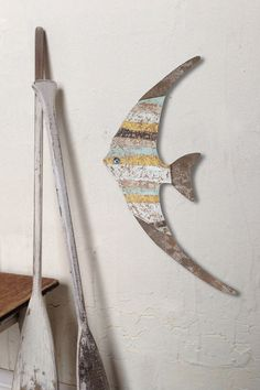 Wood Fish Wall Decor