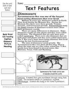 TEACHING TEXT FEATURES: A NONFICTION COMMON CORE ALIGNED UNIT - I have gathered ten of my favorite practice pages for teaching text features. Each handout teaches about a certain content while covering Common Core Standard RI2.5.  My students need constant review of this standard, and this packet gives you themed material to use throughout the year!