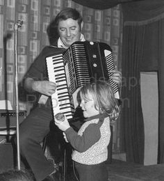 Ambi Mc Conville and his grandaughter Black N White Images, Black And White, Outdoor Photos, Books, Libros, Black N White, Black White, Book, Book Illustrations